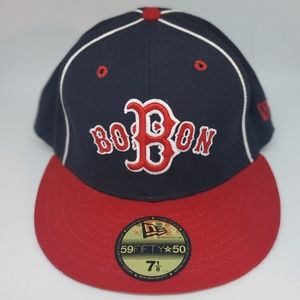 59Fifty⭐50 New Era Red Sox Fitted Cap